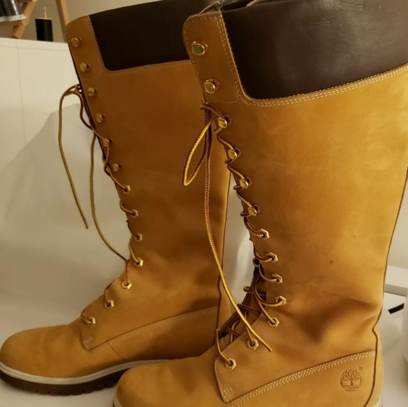 Details about Timberland Glancy tall lace 14
